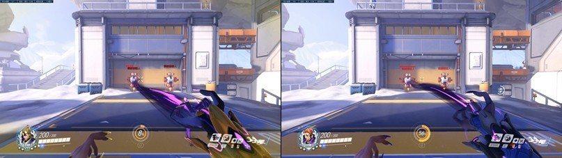 左:莫伊拉PTR HITBOX/右:莫伊拉正常HITBOX。