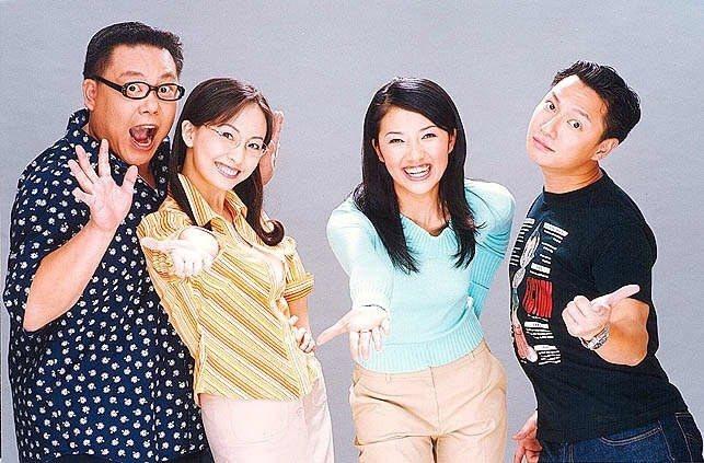 出道後葉民志(左起)拍長劇「麻辣鮮師」和郭昱晴、賈欣惠合作。本報資料照