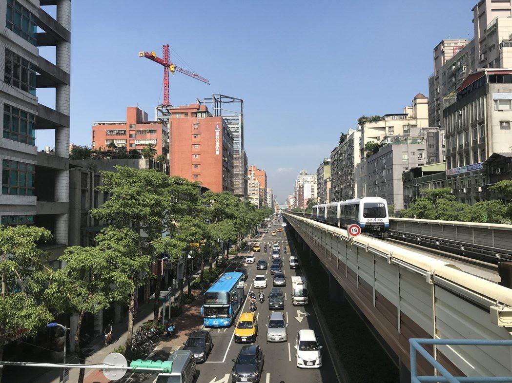 台北市中心區。記者游智文/攝影