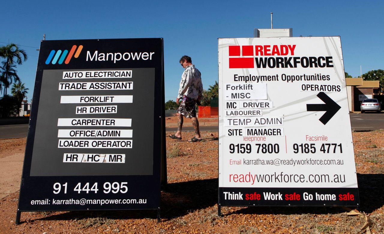 澳洲央行擔心,當地勞動力市場正步入類似美國、英國、德國、日本的後塵,低失業率沒有...