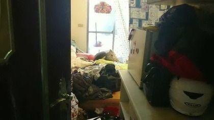 朱姓男子在士林區租屋處朝妻子潑灑強鹼。本報資料照片