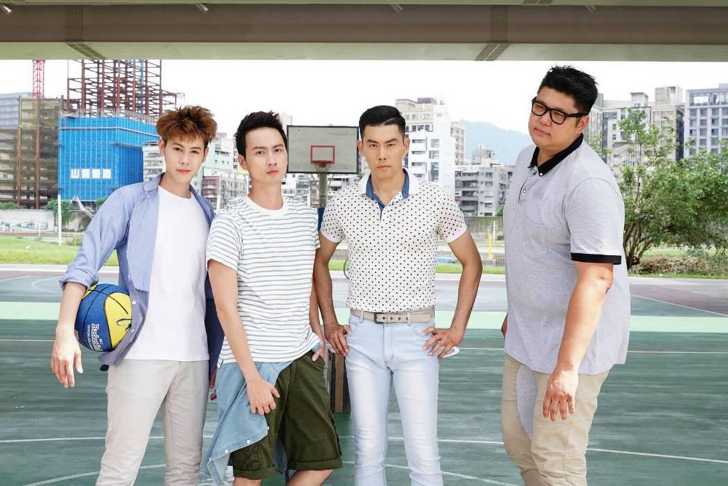 Teddy(左起)、張捷、余秉諺、哈孝遠演出「實習醫師鬥格」。圖/民視提供