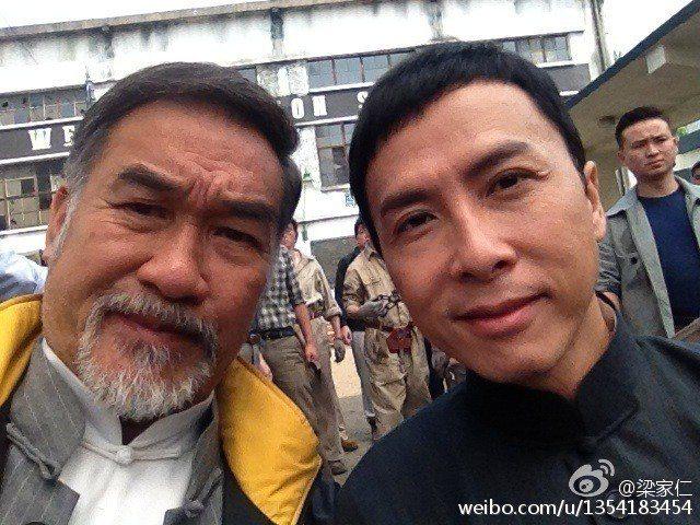梁家仁(左)與甄子丹(右)合作過。圖/摘自微博