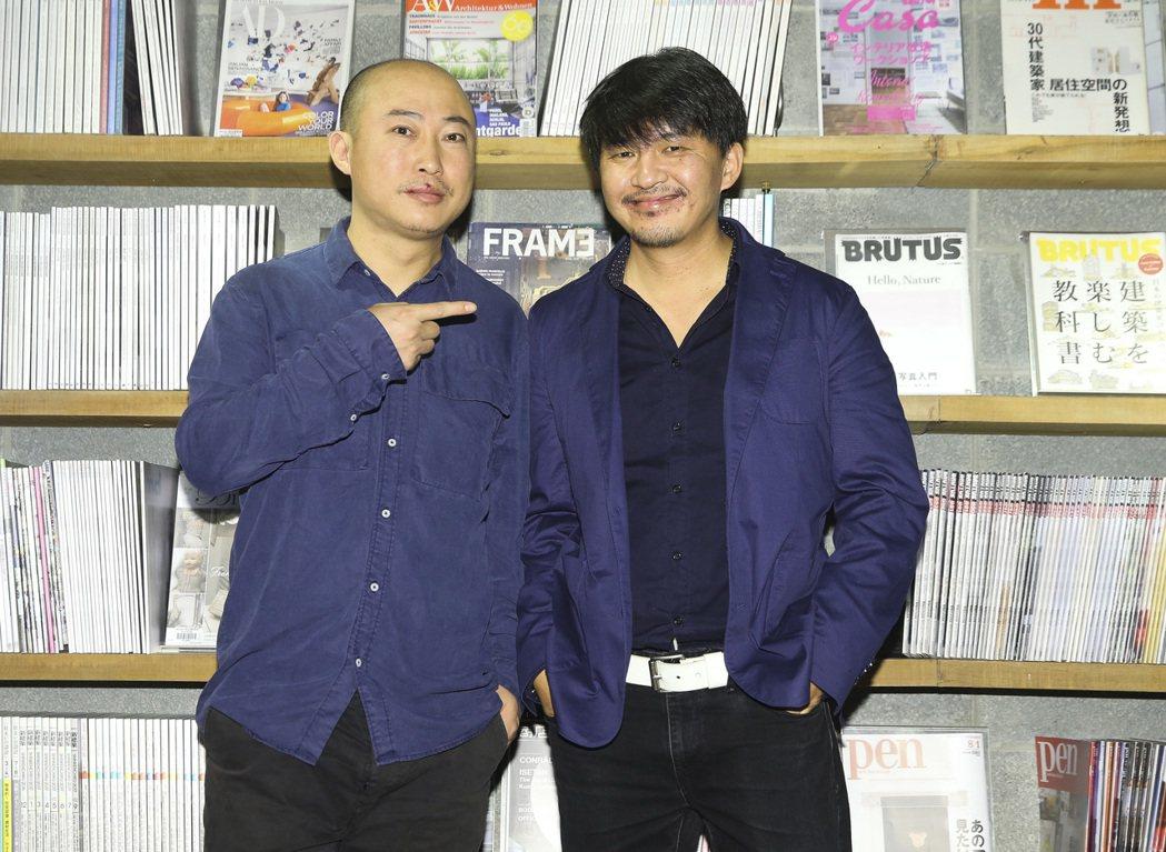 金馬最佳影片入圍「輕鬆+愉快」,導演耿軍(左)與演員徐剛(右)。記者楊萬雲/攝影
