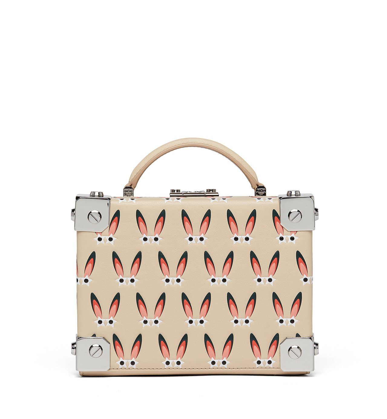 Berlin粉米色星型眼睛兔側背箱包,售價41,500元。圖/MCM提供