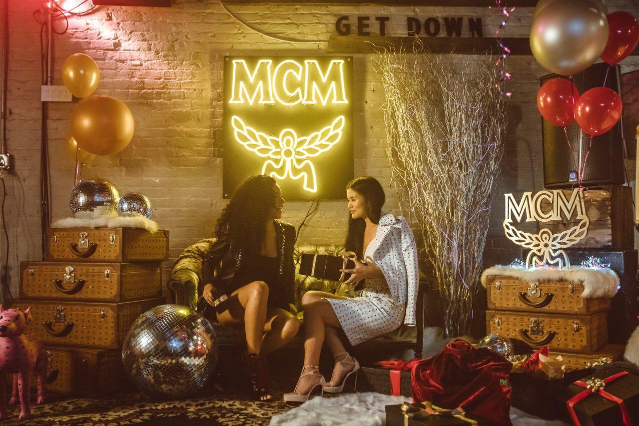 台灣名模蔡宜樺參與MCM Holiday系列影片的演出。圖/MCM提供