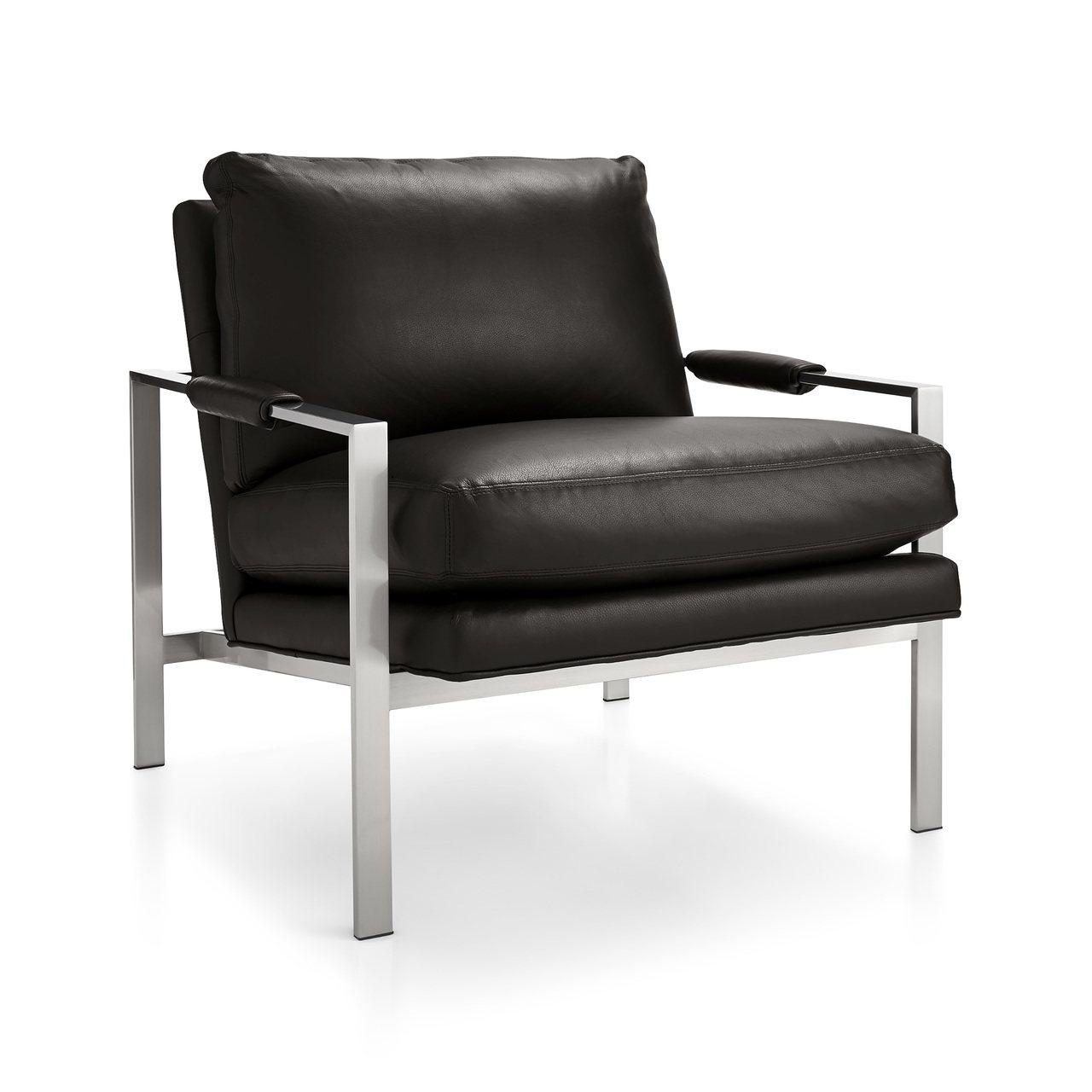 Milo經典皮質單人椅黑,原價115,000元,特價68,425元。圖/Crat...