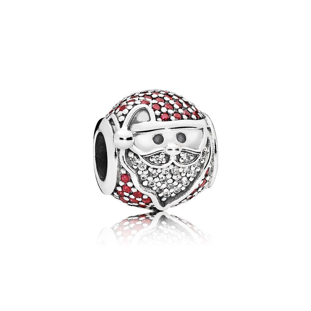 耶誕老人925銀紅色鋯石串飾,2,980元。圖/PANDORA提供