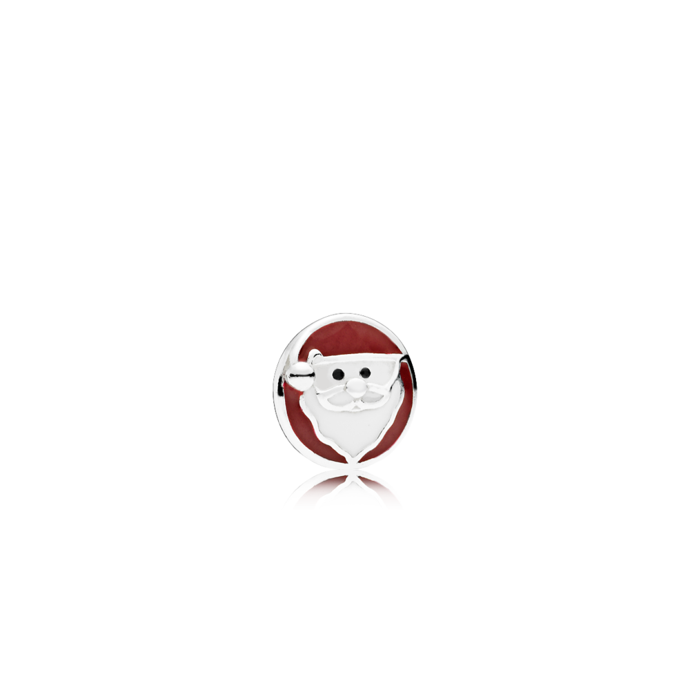 耶誕老人925銀琺瑯小配飾,680元。圖/PANDORA提供