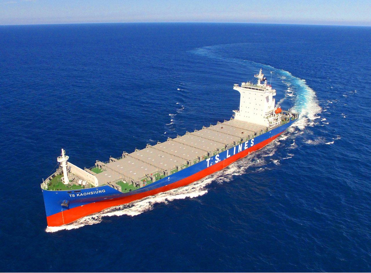 德翔海運有限公司新造的1800TEU全貨櫃輪「TS KAOSHIUNG」系列第...