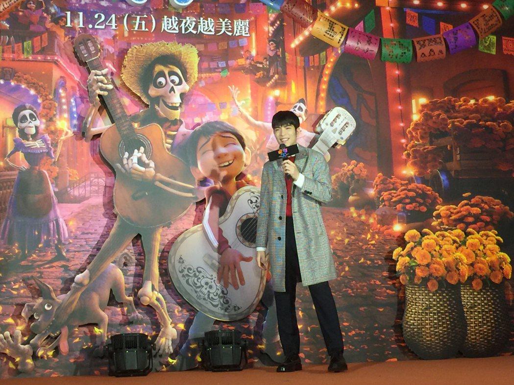 蕭敬騰出席「可可夜總會」國語版首映會。記者蘇詠智/攝影