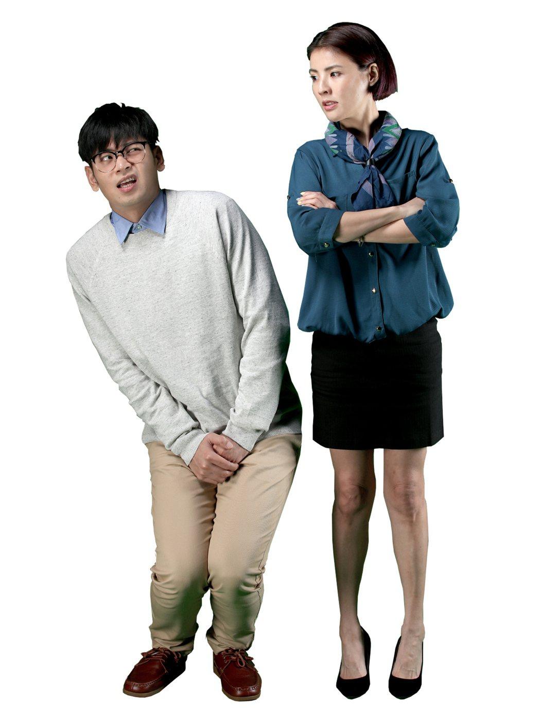 楊子儀、徐可是台藝大同班同學,合作拍戲互抖過去糗事。圖/緯來電影台提供