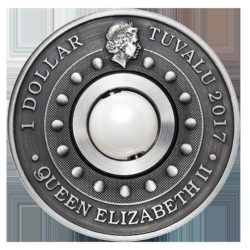 銀幣正面刻畫英國女王伊莉莎白二世側面肖像。台銀提供