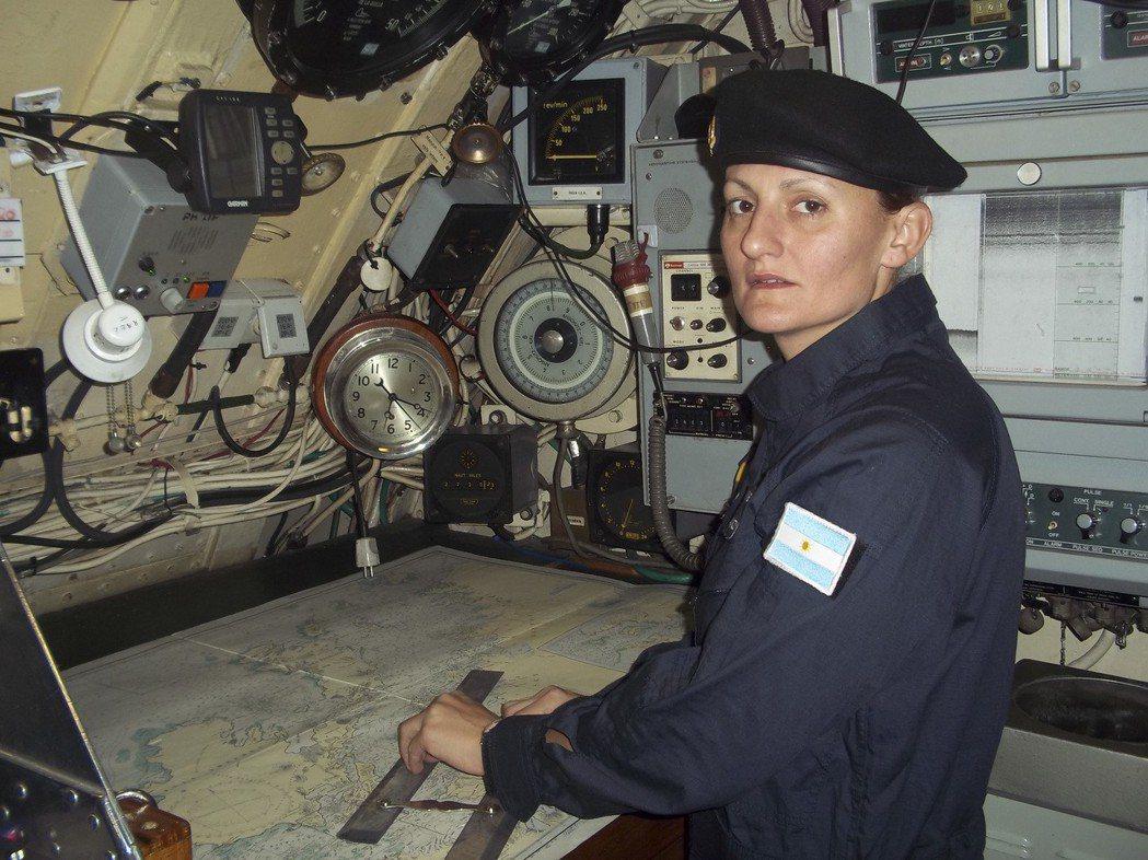 阿根廷史上首位女性潛艦軍官愛立雅娜.克羅希克也在失聯潛艦「聖胡安號」上。 (美聯...
