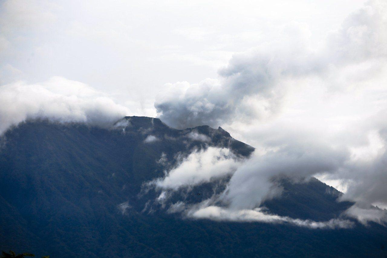 印尼阿貢火山(Mount Agung)。歐新社