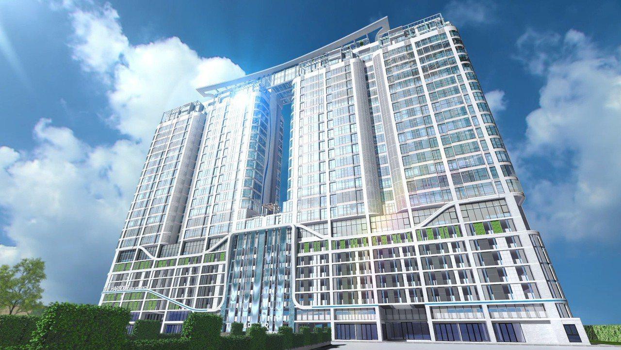 藍海地產於曼谷湄南河旁打造HVR酒店會所,預計2年後完工,此為3D外觀示意圖。 ...