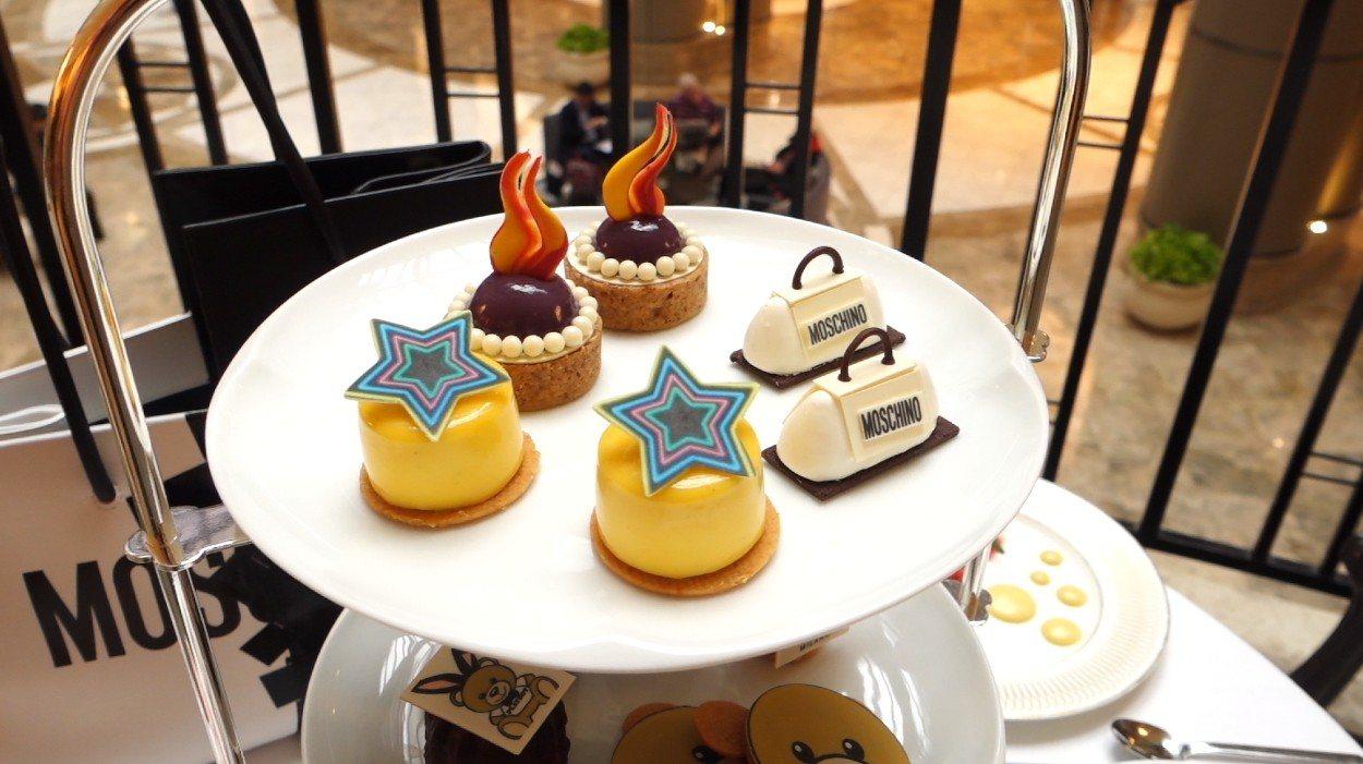 台北君悅酒店法籍主廚博豊安利用本季設計概念和品牌經典元素為靈感,打造超多造型可愛的甜點。 張芳瑜攝影