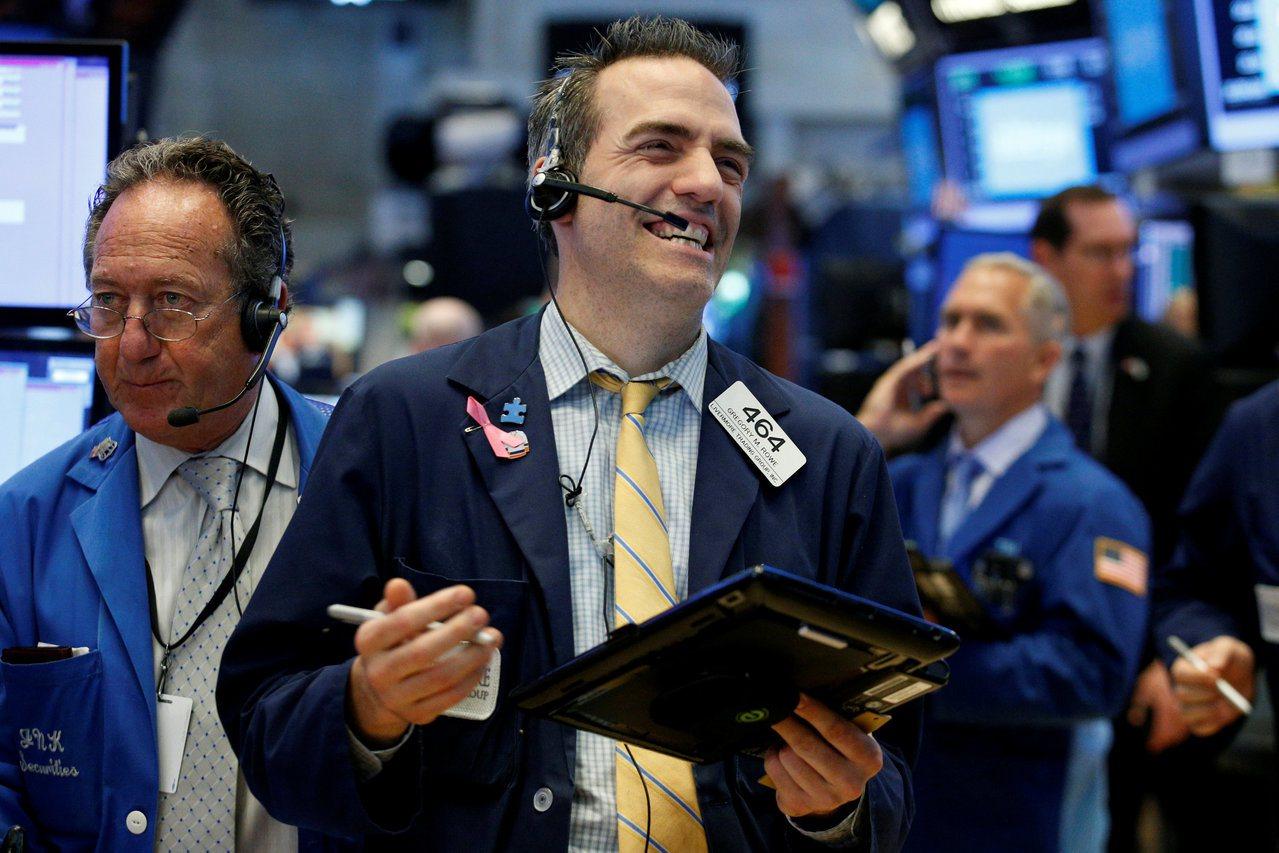 科技股周二領漲,助美股三大指數創收盤新高。(路透)