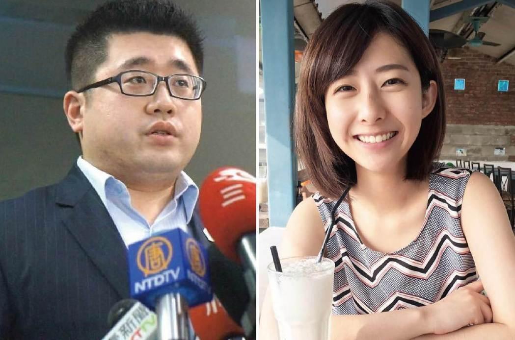 總統府發言人林鶴明(左圖)和有「小桂綸鎂」之稱的記者莊惠琪(右圖)交往中。 圖/...