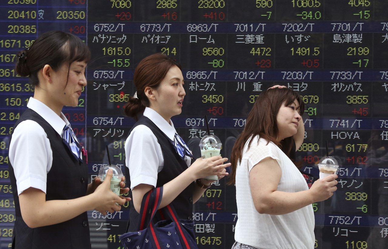 亞洲股市突破2007年來高點。(圖/美聯社)