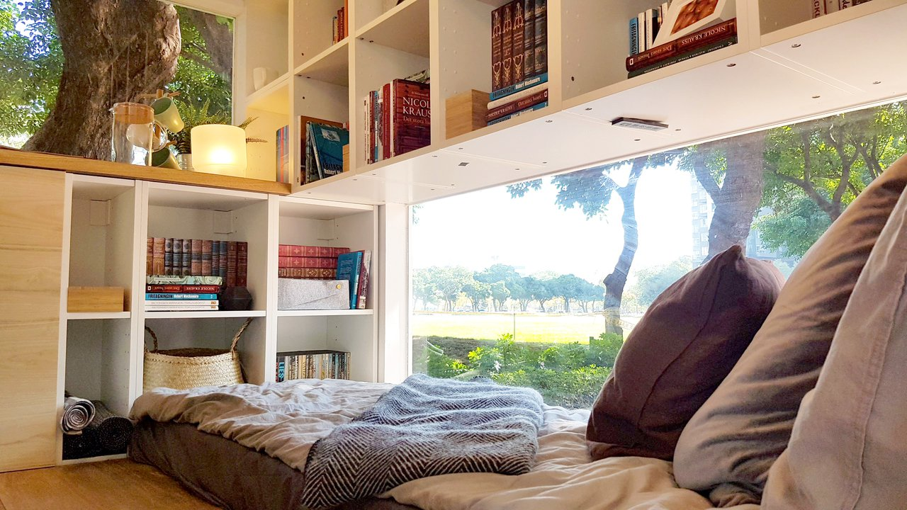 愛書人的家,躺著也有好風景。記者王韶憶/攝影