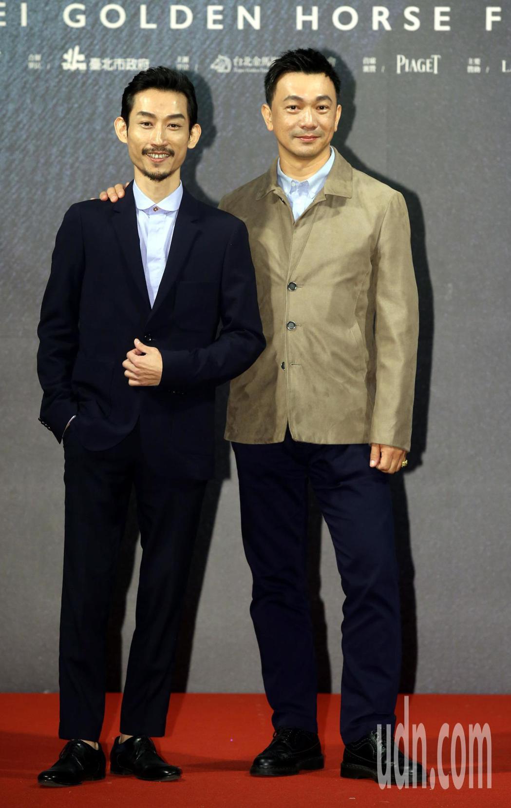 奪獎呼聲來勢汹汹的電影「大佛普拉斯」,導演黃信堯(右)演員陳竹昇。記者林俊良/攝...