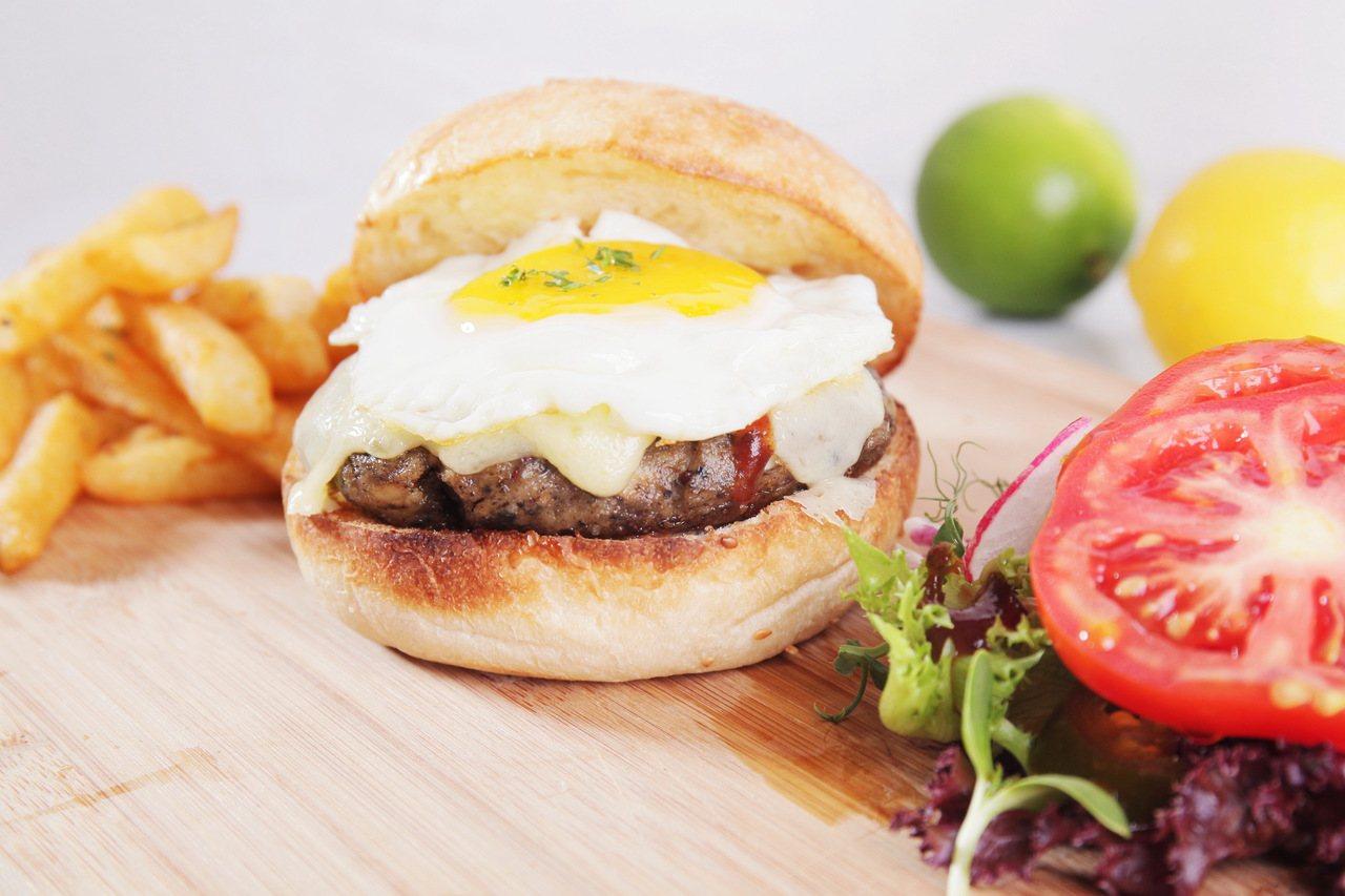 特製蔬食漢堡。圖/小田食光提供