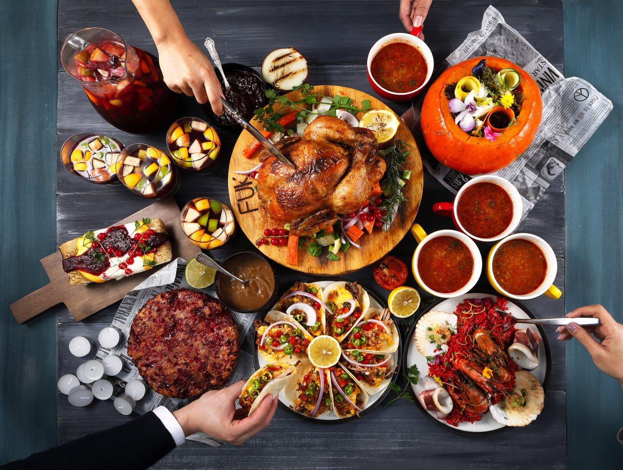 棧直火廚房推出多國料理風格的耶誕饗宴。圖/棧直火廚房提供