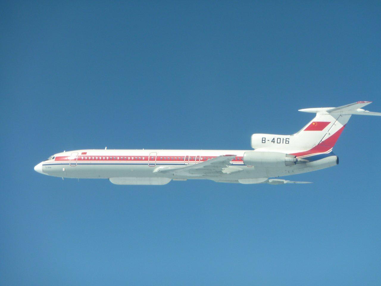 中共Tu-154電偵機。國防部提供