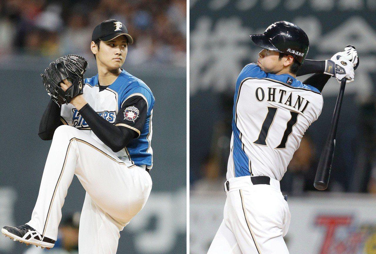 MLB多支球隊都看好大谷翔平「二刀流」的身手。 美聯社