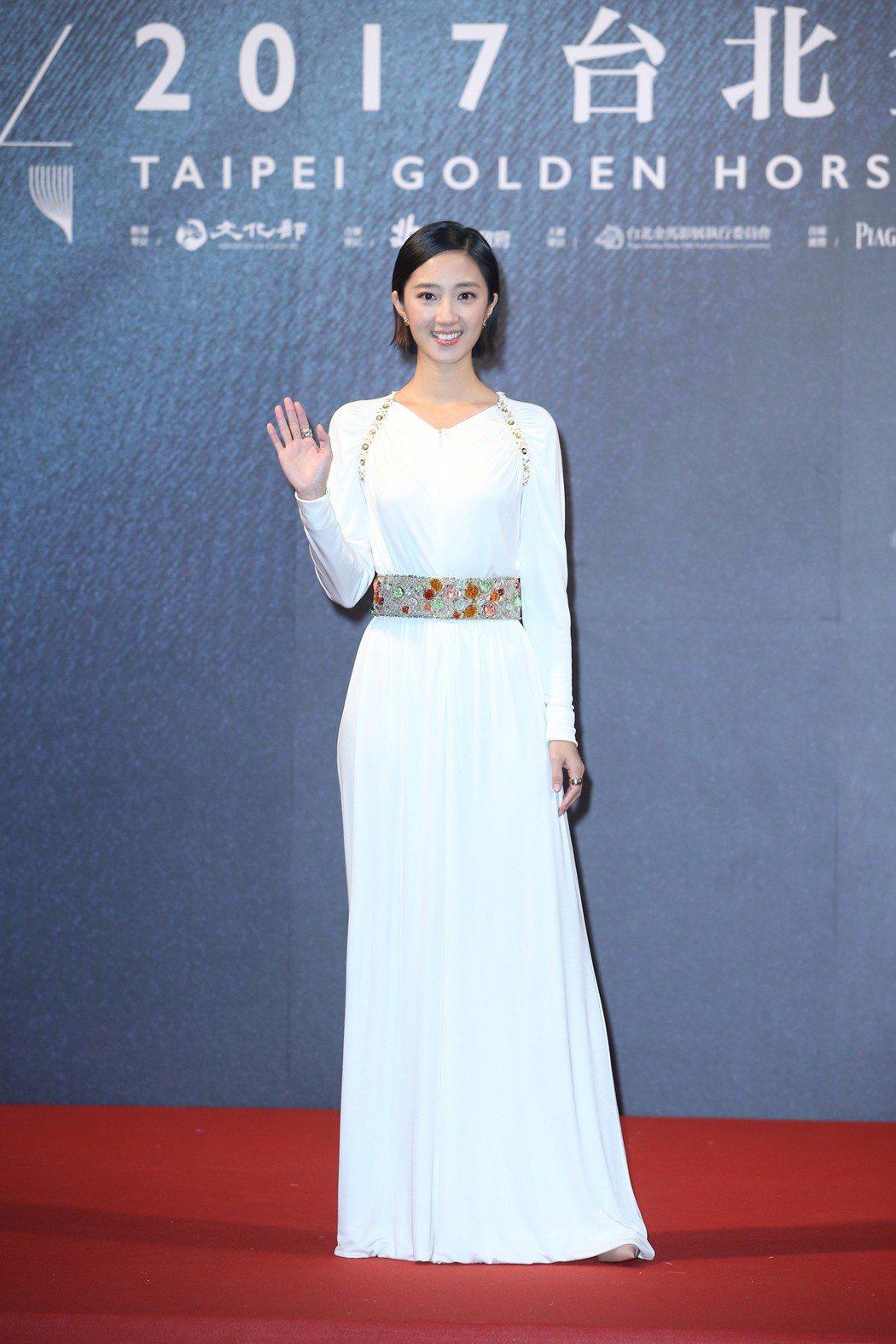 桂綸鎂出席電影「幸福路上」金馬首映。記者陳瑞源/攝影