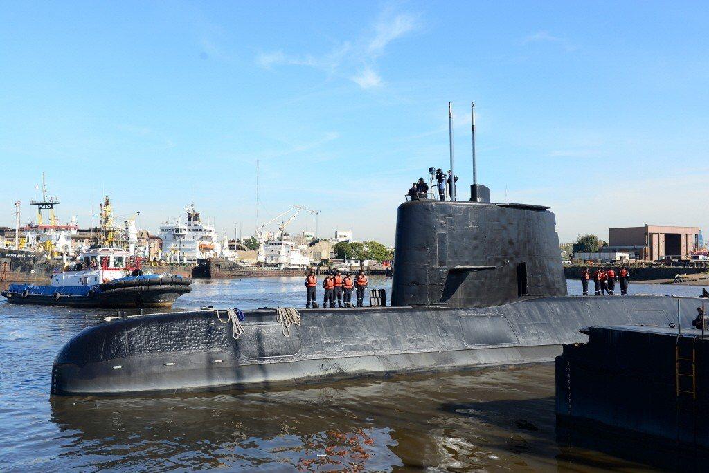 阿根廷23日海軍證實,就在「聖胡安號」潛艦失聯當天,附近海域被錄到異常水下聲響,...