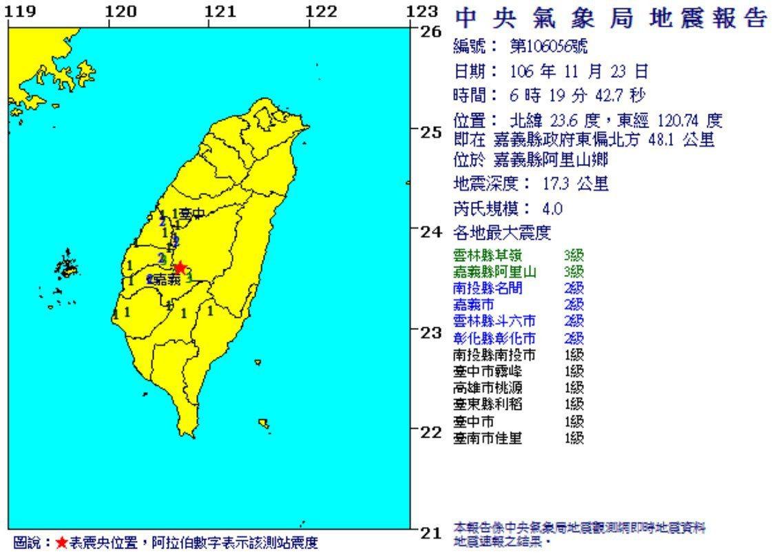 圖/擷取自中央氣象局