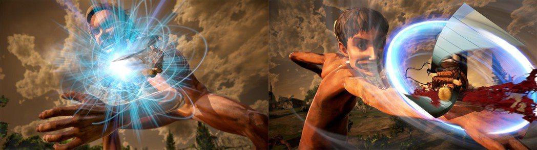 左:迴避面前巨人的攻擊/右:用強力攻擊來反擊