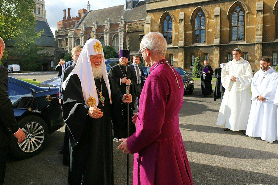 韋爾比前往俄國訪問,呼籲外界儘速恢復中東和平。圖為去年俄國東正教會大主教基利爾一...