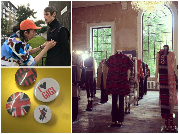 在倫敦近郊進行時尚硬照拍攝、(左下)Tommy Hilfiger於倫敦舉辦201...