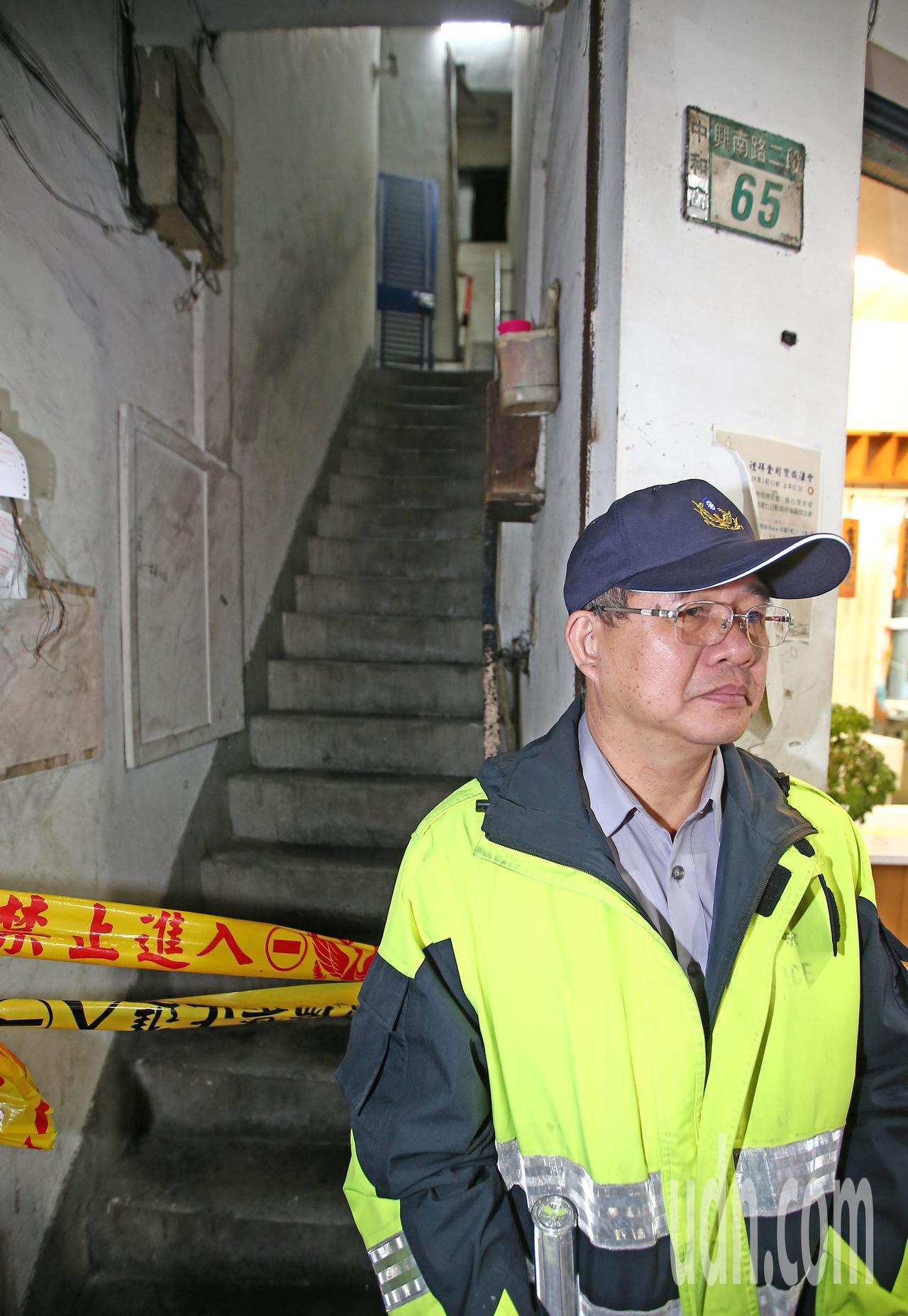 新北市中和區興南路二號段65號9死2傷現場。記者杜建重/攝影