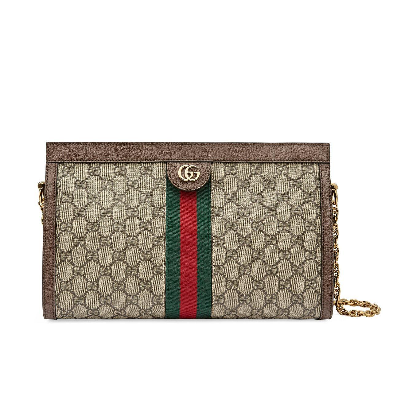 Ophidia綠紅綠織帶鍊帶包,66,800元。圖/Gucci提供