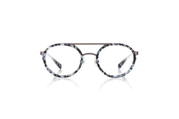 JINS秋冬自然系石頭紋光學眼鏡,約2,980元。圖/JINS提供