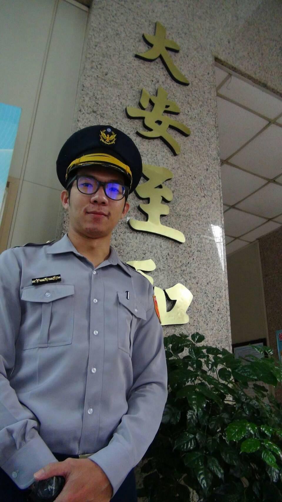 大安警分局警員曾柏雅。記者廖炳棋/翻攝
