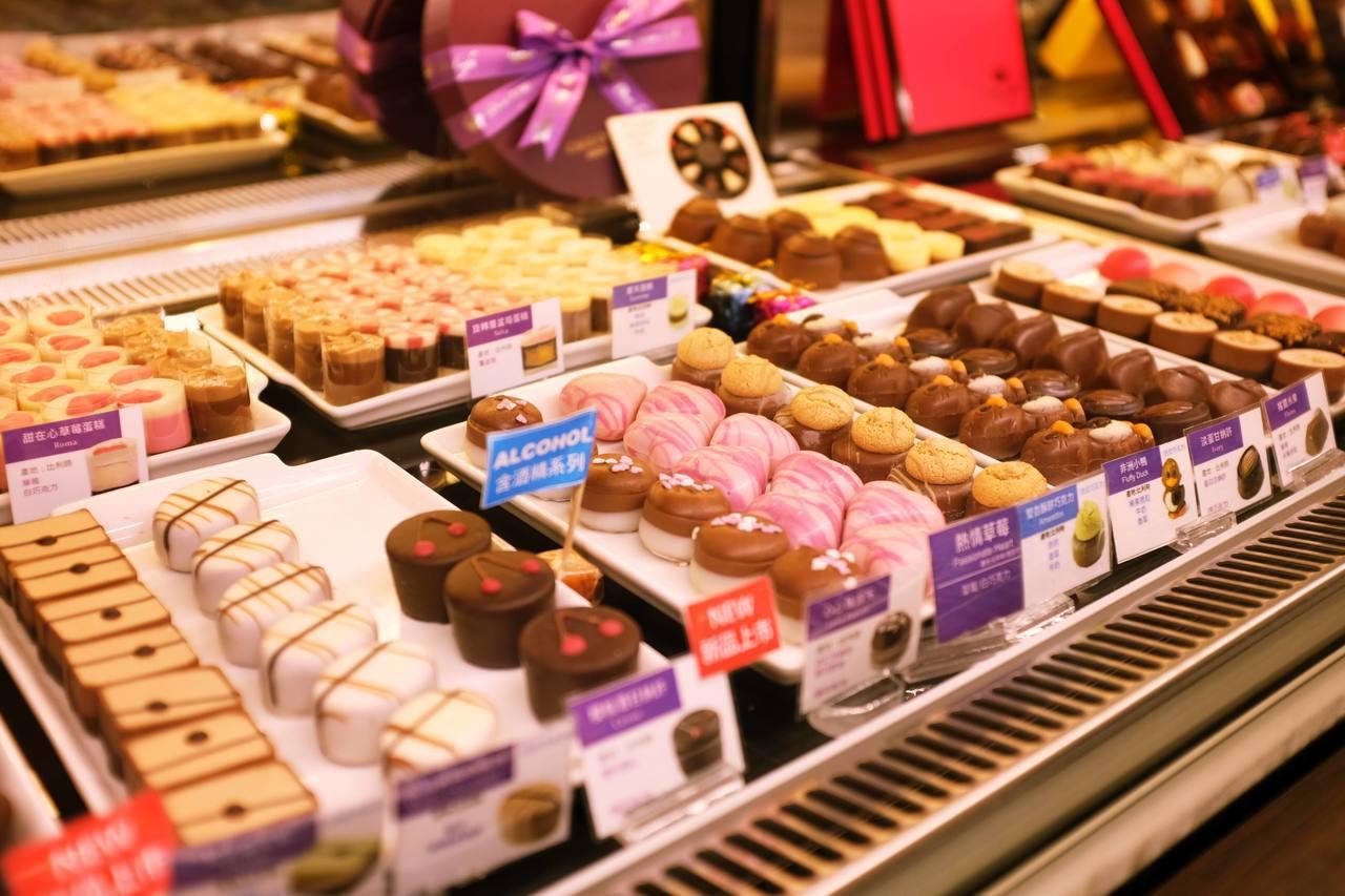 比利時夾心巧克力。記者沈佩臻/攝影