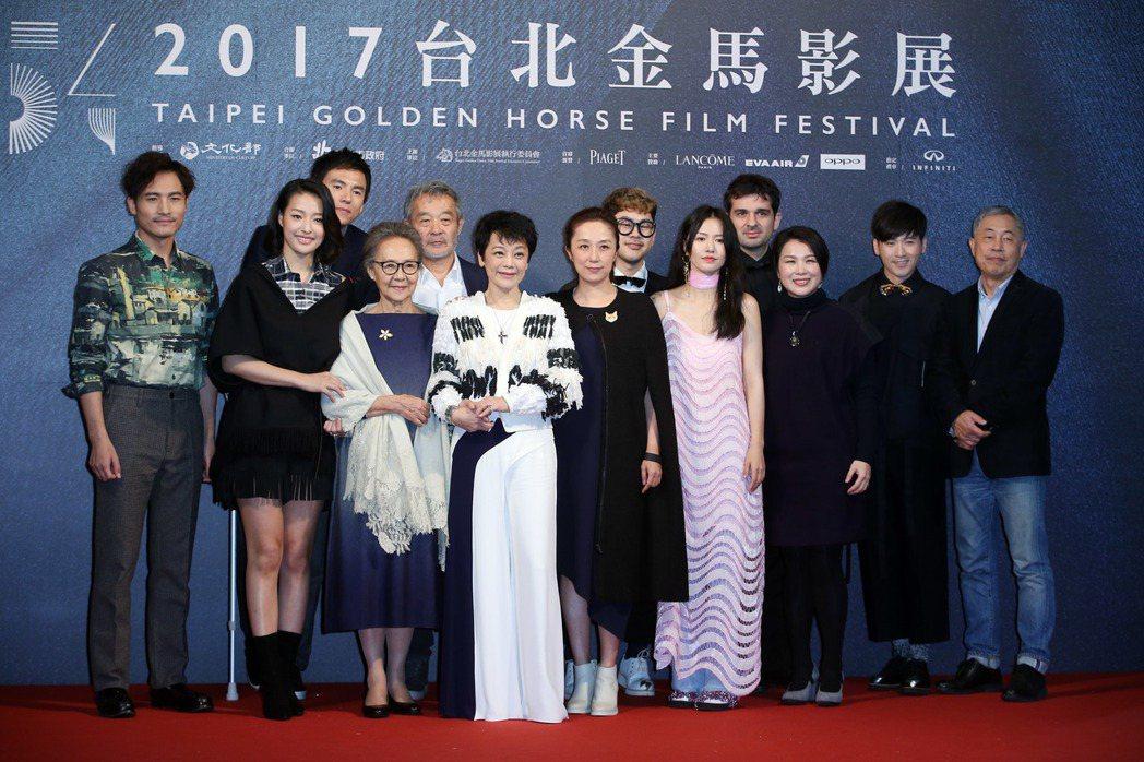 電影相愛相親劇組出席金馬獎地毯之夜。記者陳瑞源/攝影