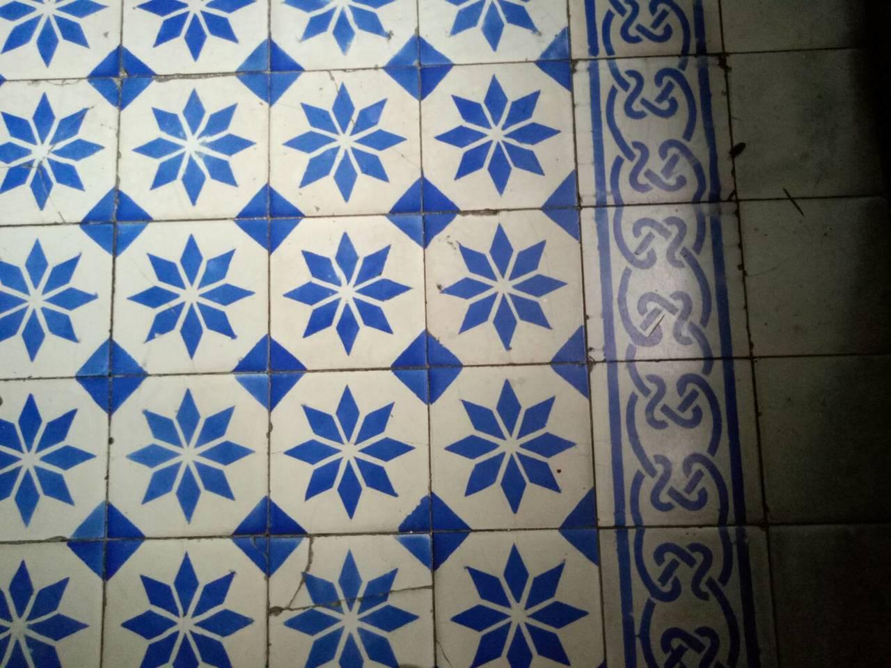 「陳天來故居」屋內的花磚仍很有味道。記者吳思萍/攝影