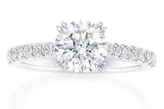 海瑞溫斯頓BRILLIANT LOVE訂婚鑽戒。圖/海瑞溫斯頓提供