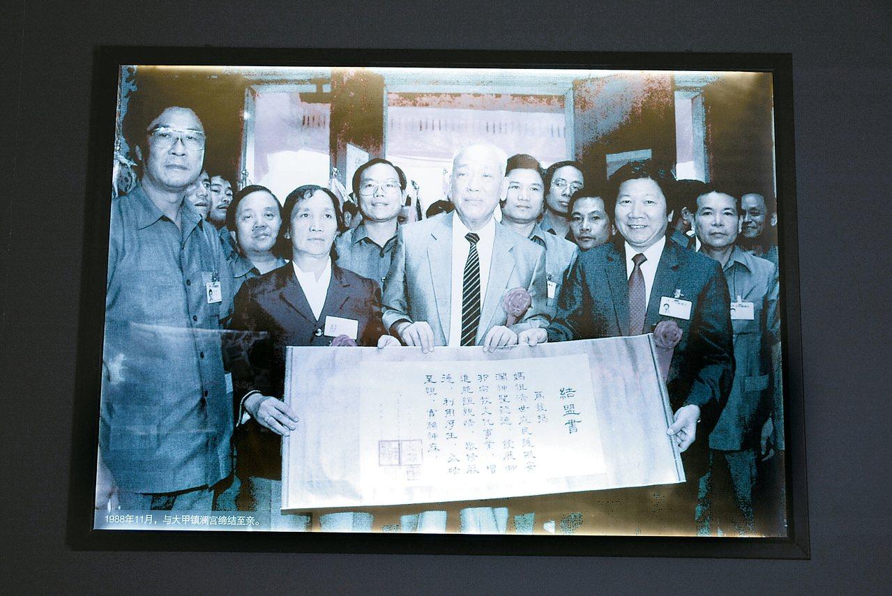 1988年,大甲鎮瀾宮與湄洲媽祖祖廟結為至親廟。 記者樊德平/攝影