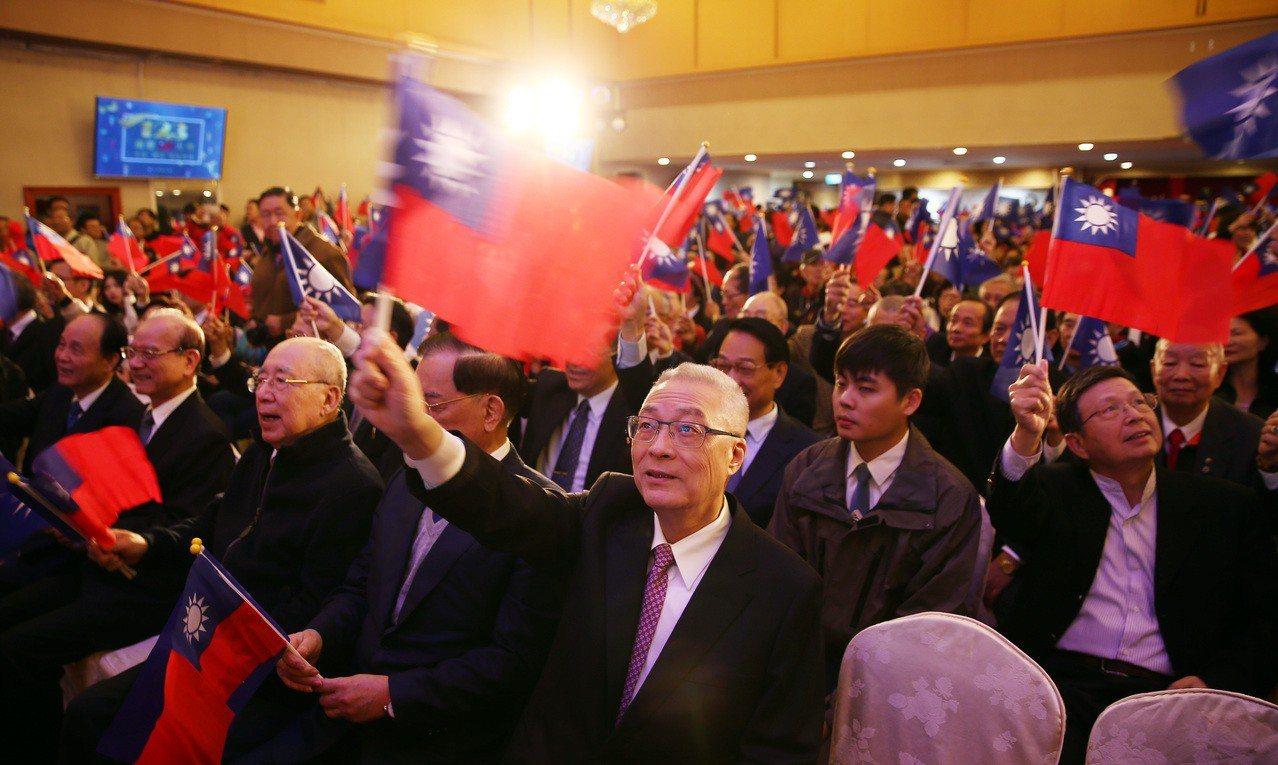國民黨上午舉辦「建黨123週年慶祝大會」,除了現任黨主席吳敦義之外,包括馬英九、...