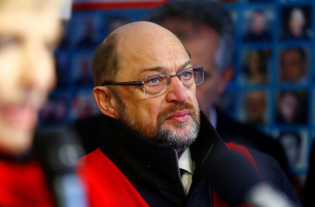德國社會民主黨的領袖舒茲。路透