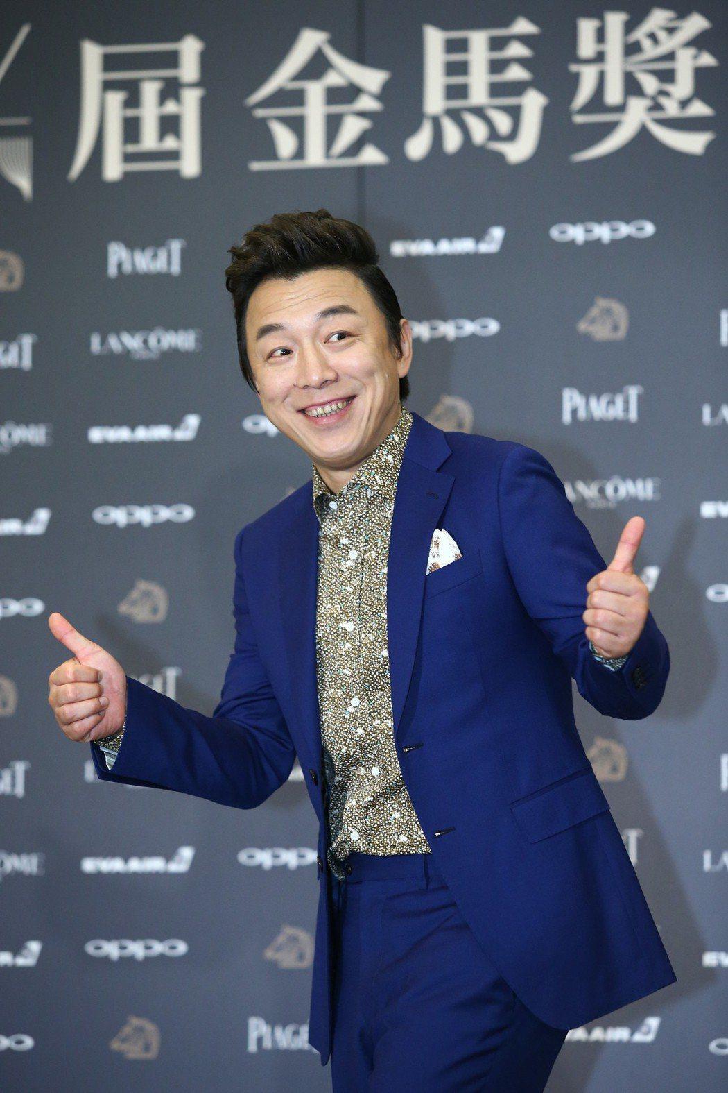 入圍金馬獎最佳男主角獎的黃渤出席入圍酒會。記者王騰毅/攝影