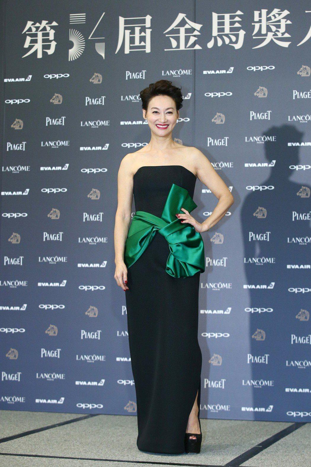 入圍金馬獎最佳女主角獎的演員惠英紅出席金馬獎入圍酒會。記者王騰毅/攝影
