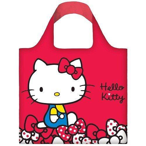 LOQI 春捲包,上面有著Hello Kitty經典圖樣及配色,只要450元。圖...